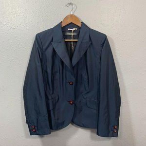 Marina Rinaldi Navy Blue Blazer Jacket SIze Medium